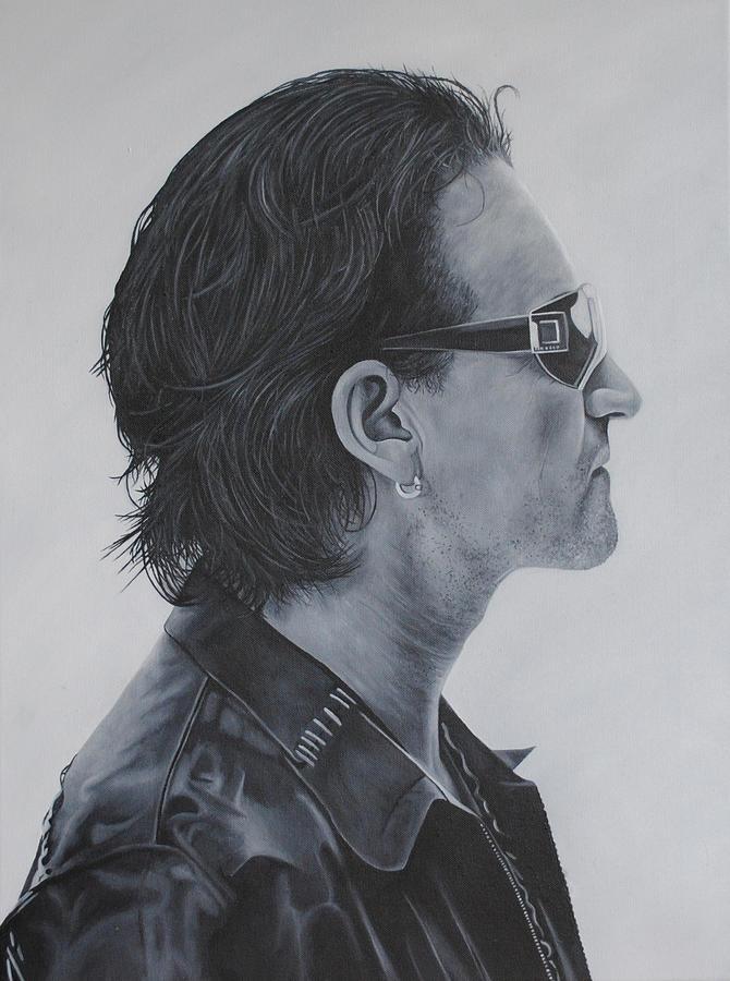 Bono Painting - Bono by David Dunne