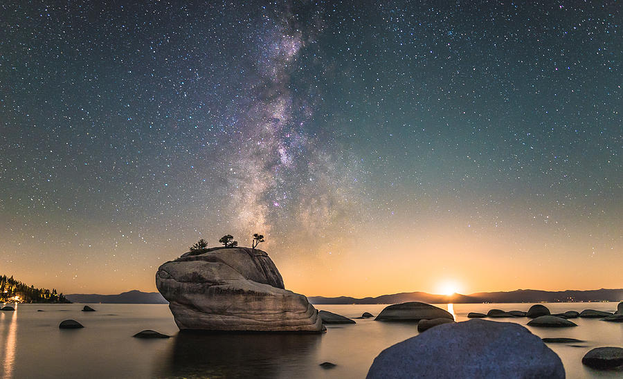 Astrophotography Photograph - Bonsai Rock And Milky Way by Tony Fuentes