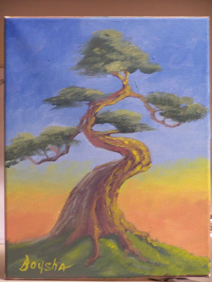 Bonsai Painting - Bonsai Tree Painting Original by Darren Boysha