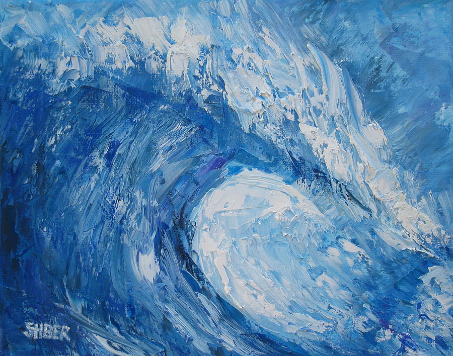 Wave Painting - Bonsai Wave by Kathy Stiber