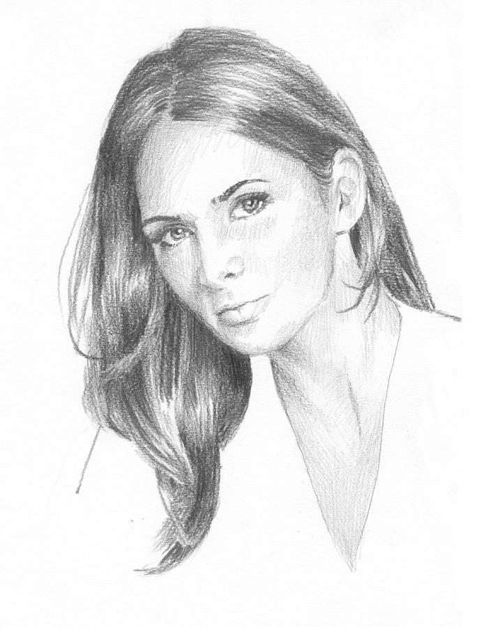 Book Character 5 Pencil Portrait Drawing by Mike Theuer
