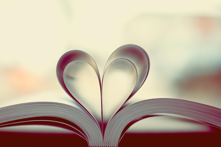 Heart Photograph - Book Lover by Sofia Walker