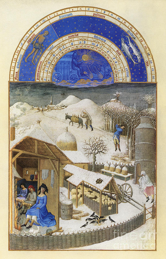 15th Century Photograph - Book Of Hours: February by Granger