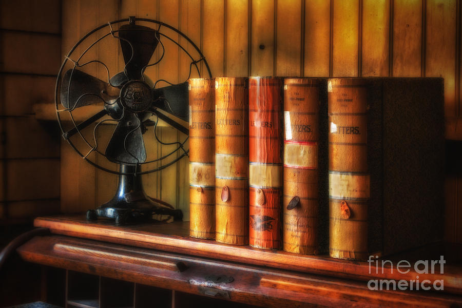 Books Photograph - Books And Fan by Jerry Fornarotto