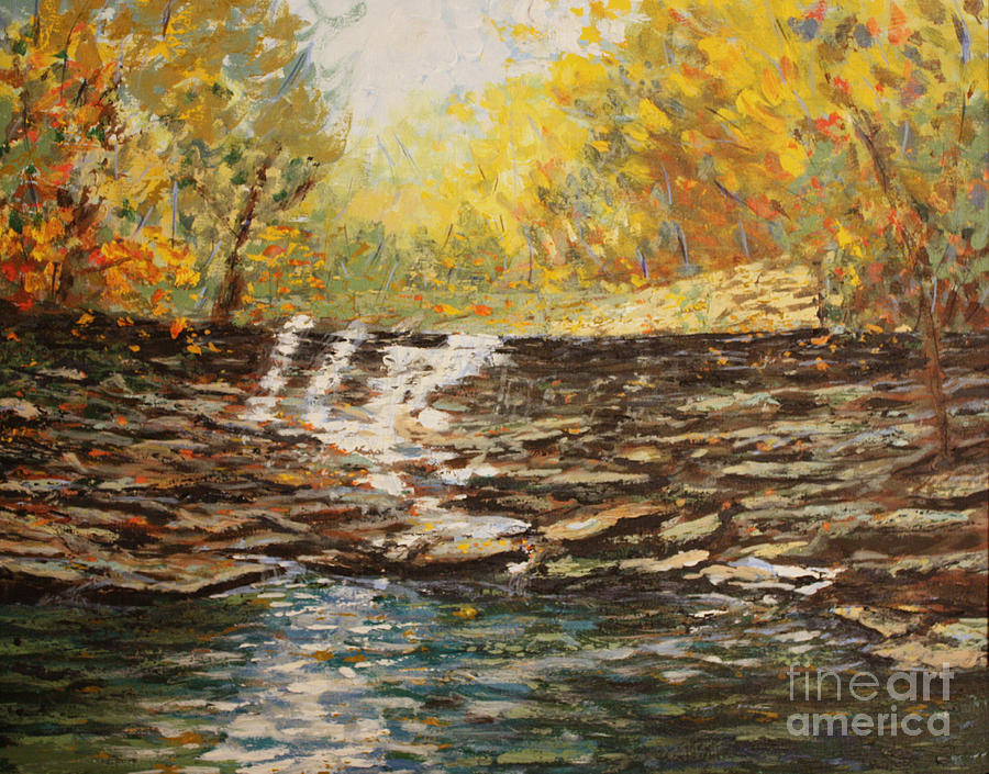 Waterfall Painting - Boone County In Fall by Terri Maddin-Miller