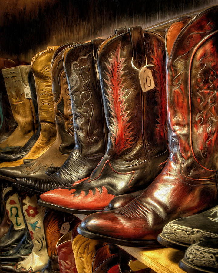 Boot Rack Painting - Boot Rack by Michael Pickett