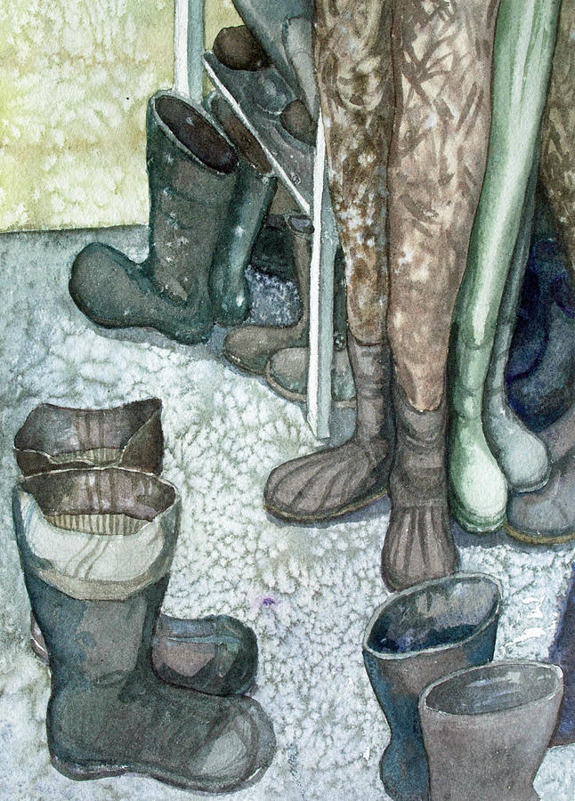 Tools Painting - Boot Room by Helen Klebesadel