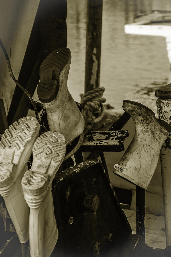 Boat Photograph - Boots by Jennifer Burley