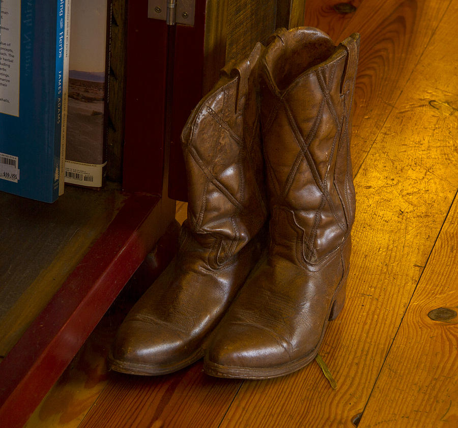 Cowboy Boots Photograph - Boots Not Made For Walking by Jean Noren
