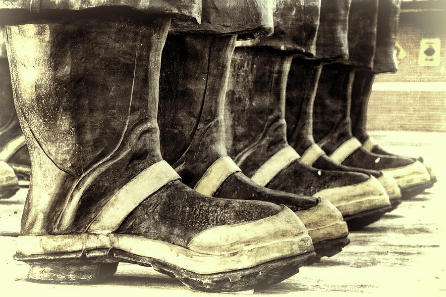 Joan Carroll Photograph - Boots on the Ground Monotone by Joan Carroll