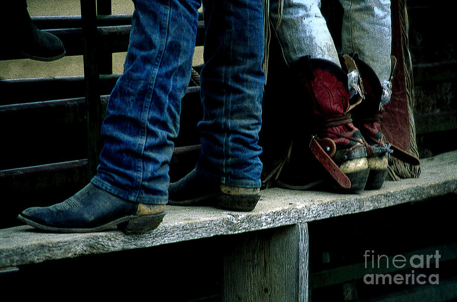 Cowboy Photograph - Boots Tell The Story by Bob Christopher