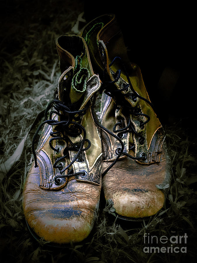 Boots Photograph - Boots That Grunt  by Steven Digman