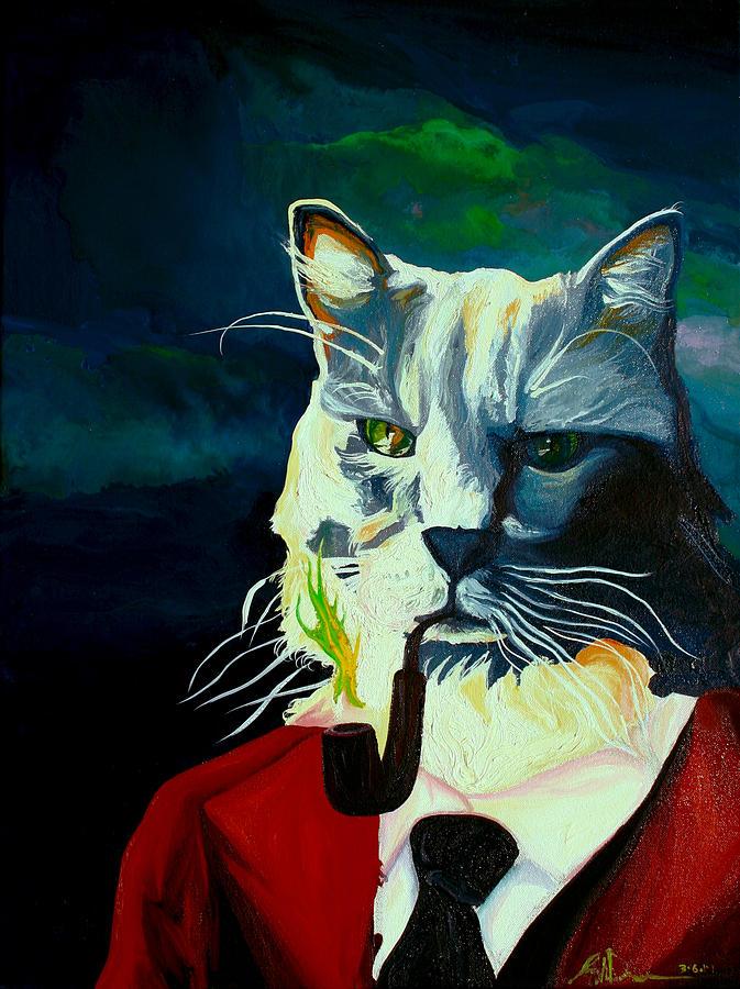 Cat Painting - Booya by Joseph Demaree