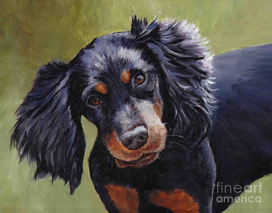 Dog Painting - Boozer The Gordon Setter by Charlotte Yealey