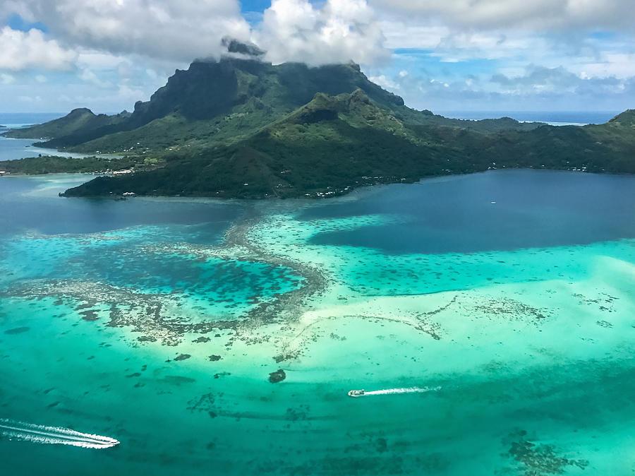 Bora Bora Island Aerial View French Polynesia By Mlenny