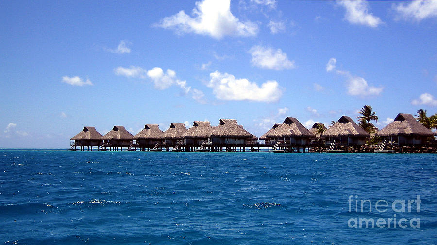 Bungalow Photograph - Bora Bora Lagoon by Camilla Brattemark