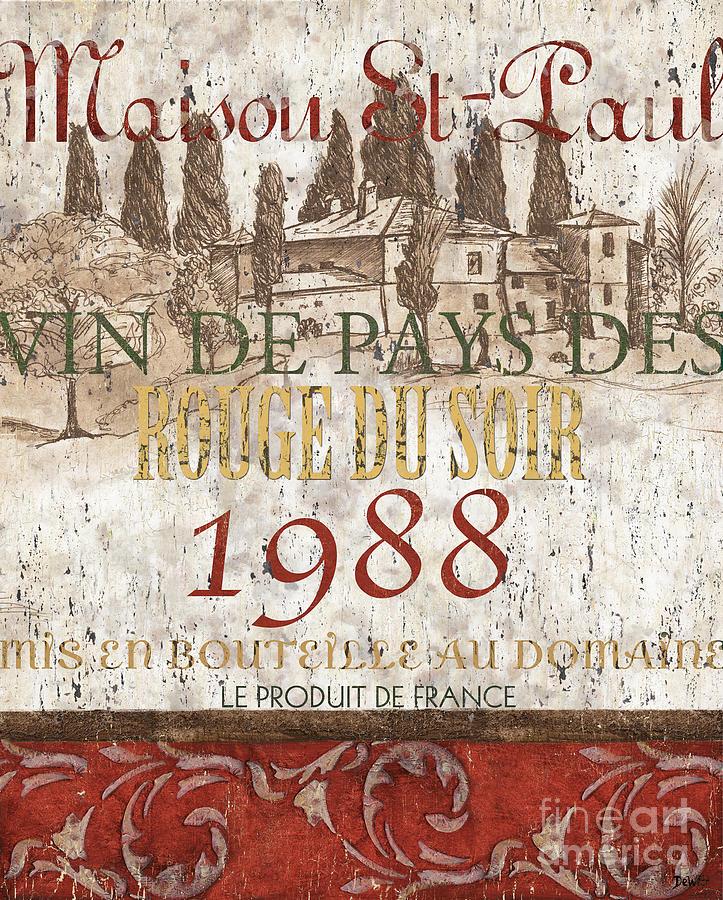 Wine Painting - Bordeaux Blanc Label 1 by Debbie DeWitt