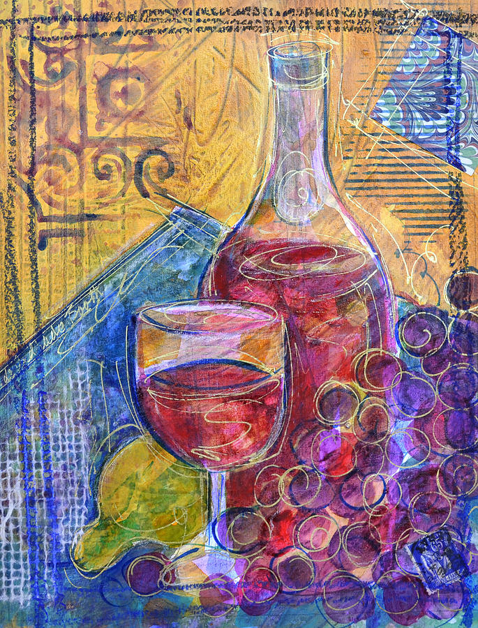 Abstract Painting - Bordeaux by Filomena Booth