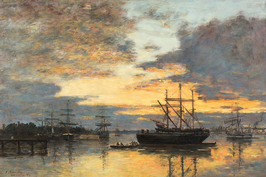 Bordeaux Painting - Bordeaux In The Harbor by Eugene Louis Boudin