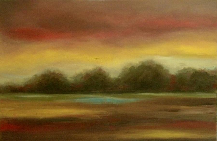 Landscape Painting - Bordeaux Rein by Rita Hassett