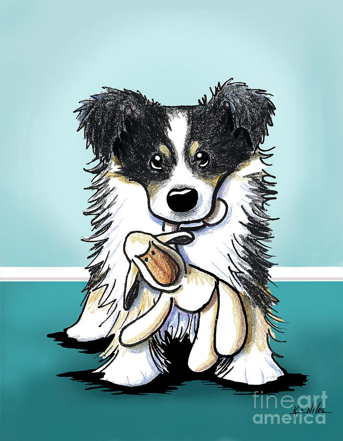 Border Collie Drawing - Border Collie by Kim Niles