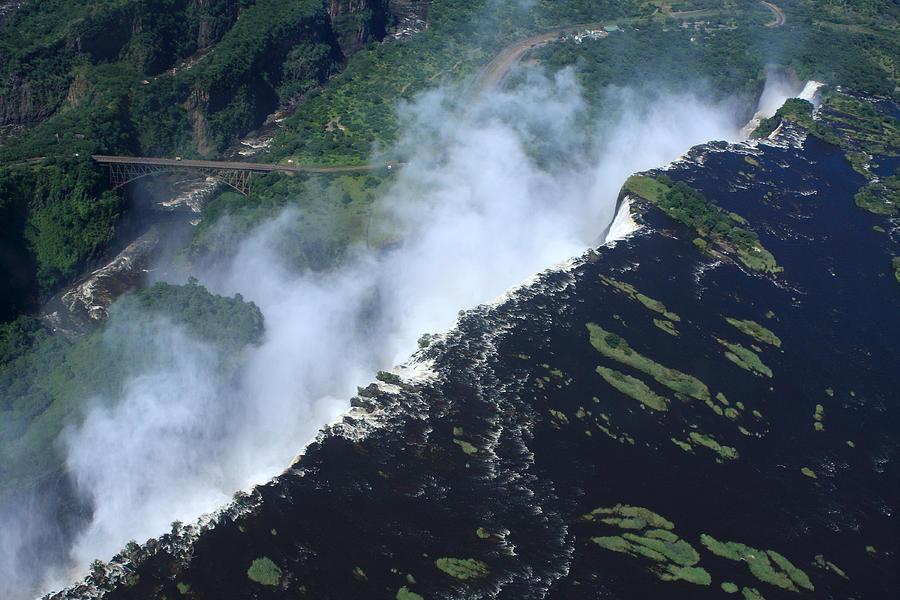 Victoria Falls Photograph - Border Crossing At The Falls by Aidan Moran