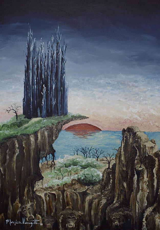 Novel Painting - Borderland by Monica Veraguth
