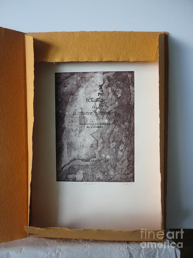 Borges Ou La Citation Necessaire Painting by Alessandra Di Noto