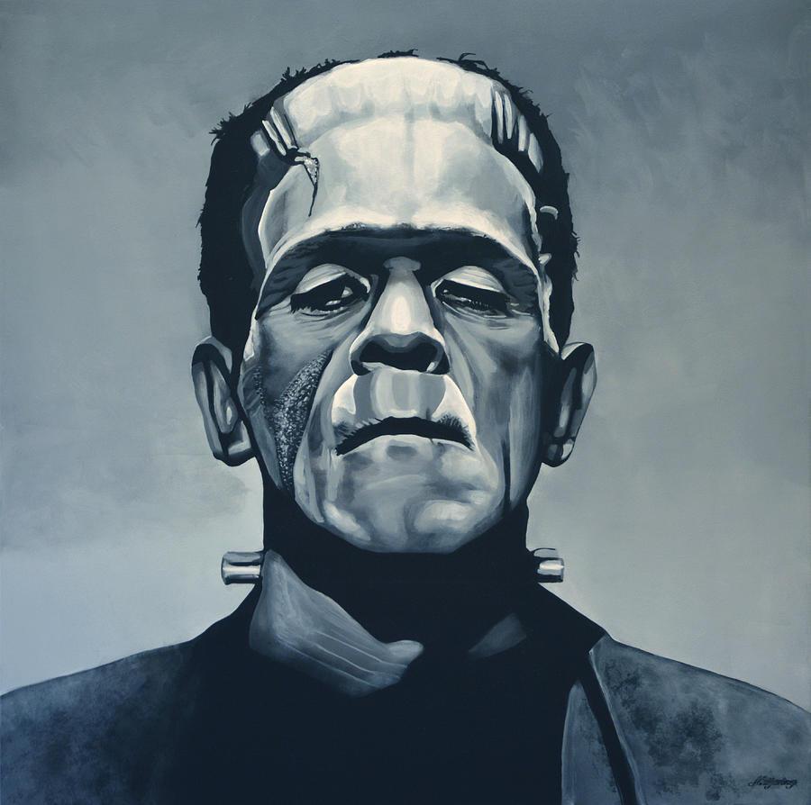 Frankenstein Painting - Boris Karloff As Frankenstein  by Paul Meijering