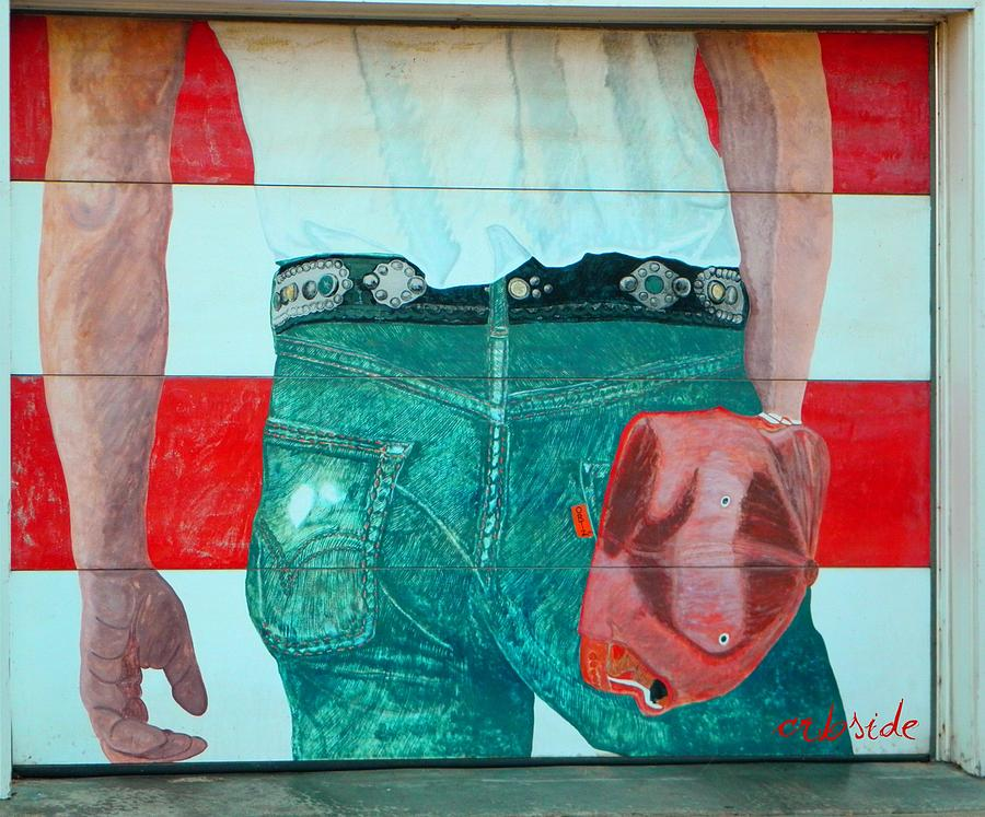 Born In The Usa Urban Garage Door Mural Photograph By Chris Berry