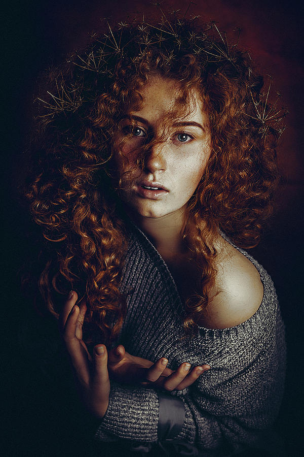Brunette Photograph - Born To Be Real by Ruslan Bolgov (axe)
