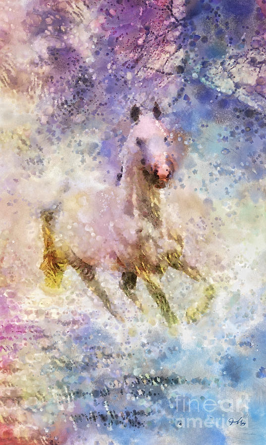 Horse Painting - Born To Be Wild by Mo T