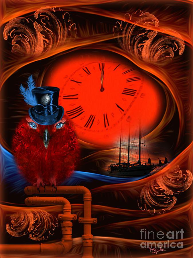 Born to travel in time - fantasy art by RGiada Digital Art by Giada Rossi