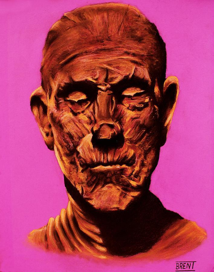 The Mummy Drawing - Borris the Mummy Karloff by Brent Andrew Doty
