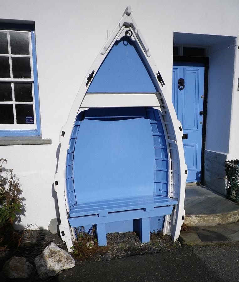 Boscastle Blue Bench Photograph