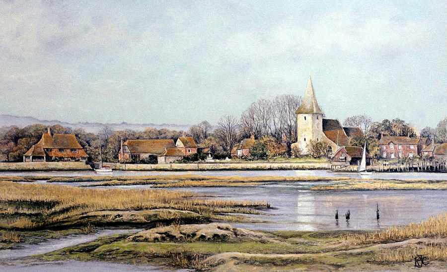 Pastels Painting - Bosham Harbour by Rosemary Colyer