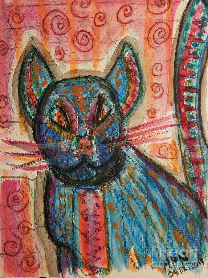 Kitty Mixed Media - Bossa Nova Kittykat by Mimulux patricia No