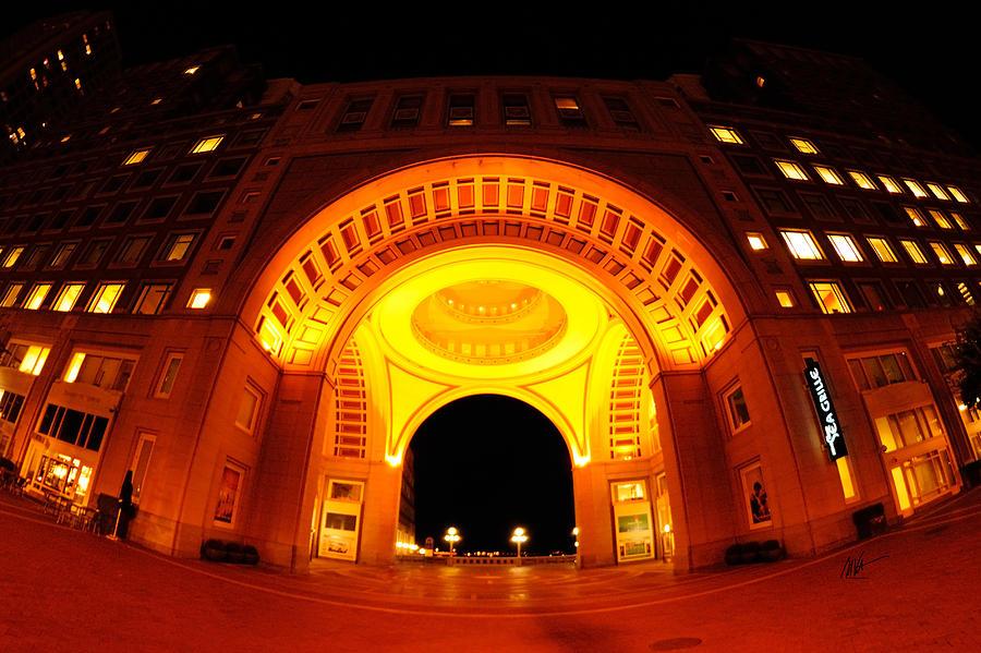 Boston Photograph - Boston - 50 Rowes Wharf Arch by Mark Valentine