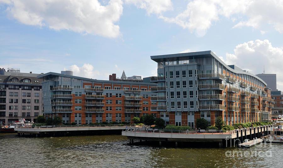Boston Harbor Photograph - Boston Apartments by Cheryl McClure