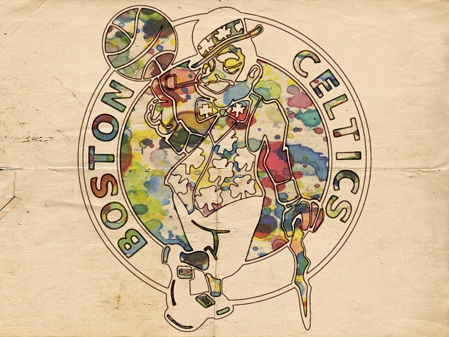 Boston Celtics Painting - Boston Celtics Logo Vintage by Florian Rodarte