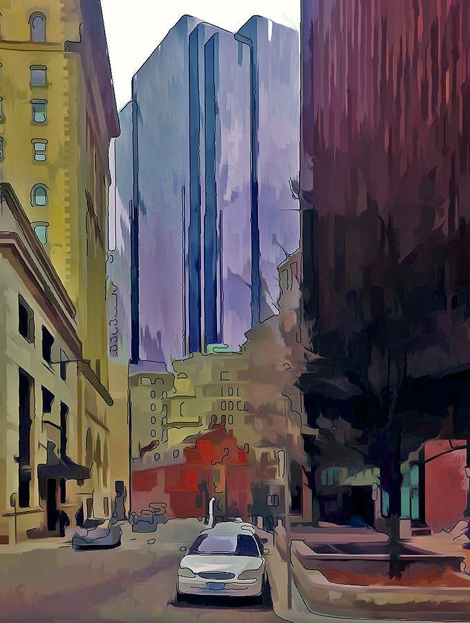 Bosotn Digital Art - Boston City Centre 2 by Yury Malkov