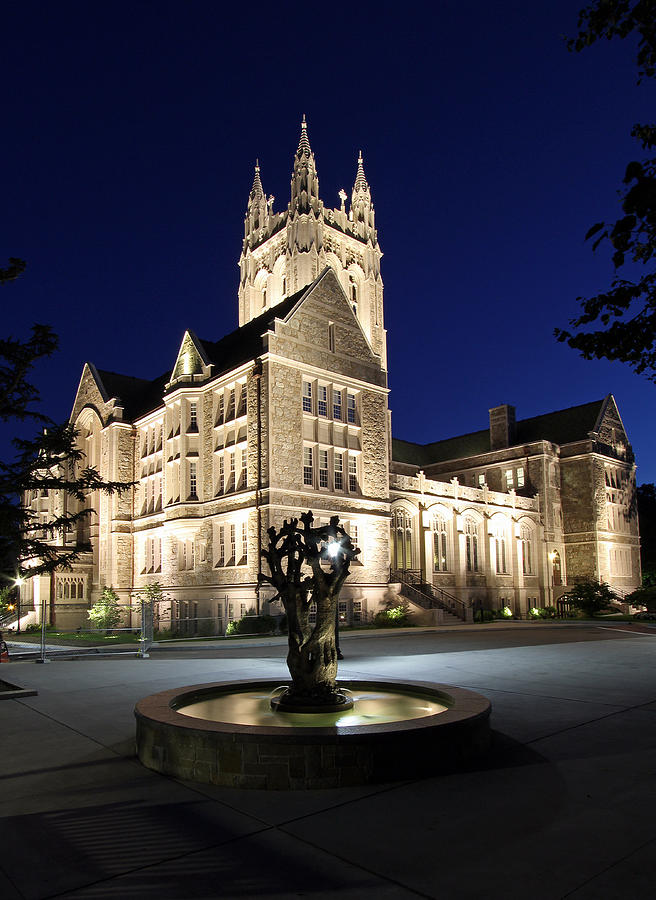 Boston Photograph - Boston College Gasson Hall by Juergen Roth