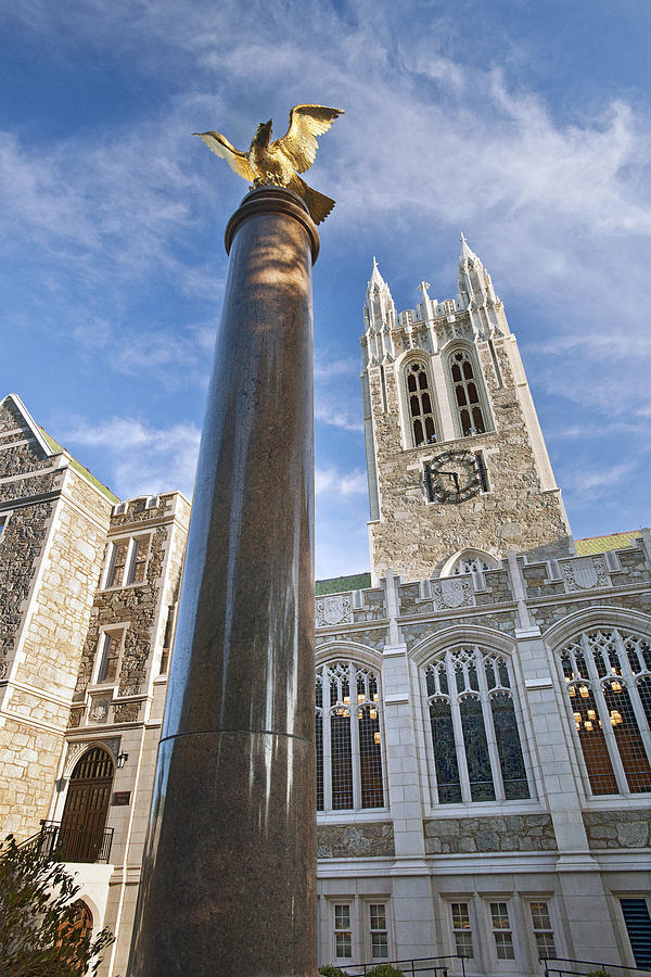 Gasson Hall Photograph - Boston College Gasson Hall by Replay Photos