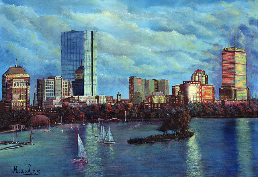 Boston Painting - Boston by Dimitrios Michelis