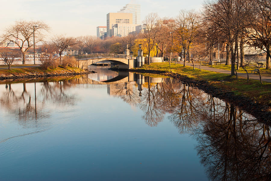 Boston Photograph - Boston Esplanade by Lee Costa