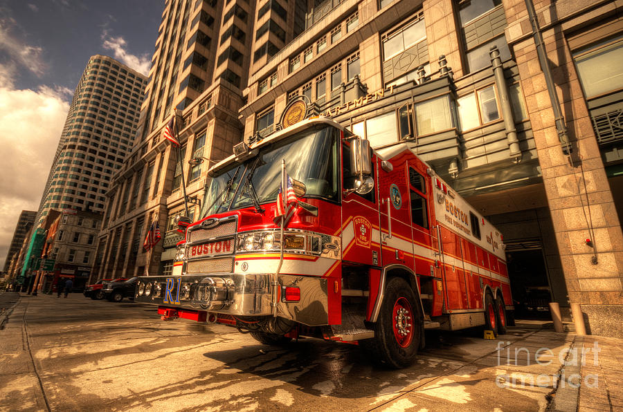 Boston Fire Truck Photograph By Rob Hawkins