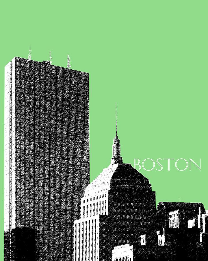 Architecture Digital Art - Boston Hancock Tower - Sage by DB Artist