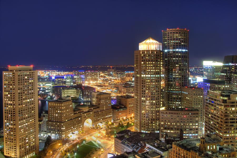 Boston Photograph - Boston Harbor Hotel Skyline by Joann Vitali
