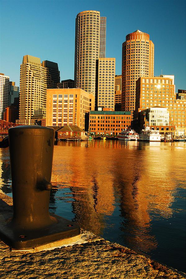 Boston Photograph - Boston Harbor by James Kirkikis