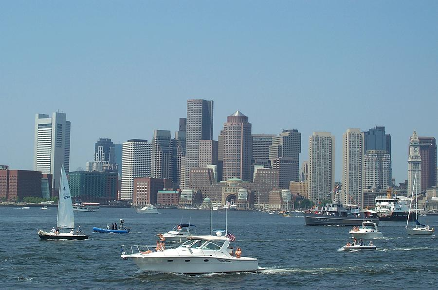 Boston Harbor Photograph - Boston Harbor July Fourth by Barbara McDevitt